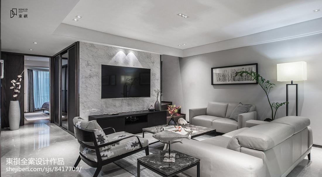 经典灰现代客厅设计图片客厅现代简约客厅设计图片赏析