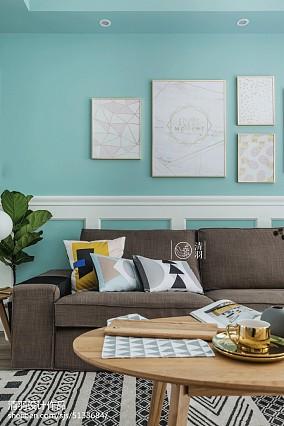 明亮116平北欧三居客厅设计案例三居北欧极简家装装修案例效果图