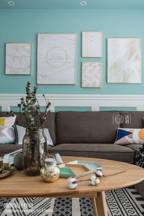 质朴97平北欧三居客厅装饰图片客厅沙发