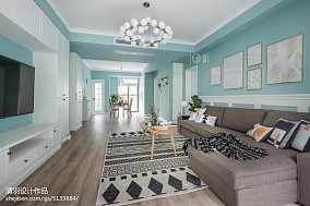 微蓝北欧客厅设计图片三居北欧极简家装装修案例效果图