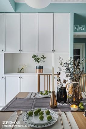 简洁73平北欧三居餐厅设计美图三居北欧极简家装装修案例效果图