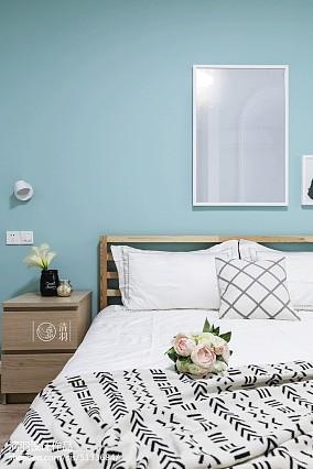 浪漫97平北欧三居卧室装饰图三居北欧极简家装装修案例效果图
