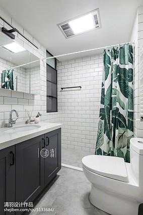 微蓝北欧卫浴设计图三居北欧极简家装装修案例效果图