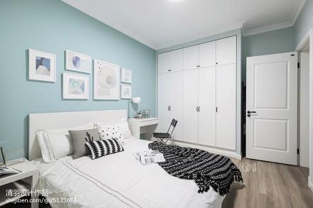 质朴78平北欧三居装修效果图卧室