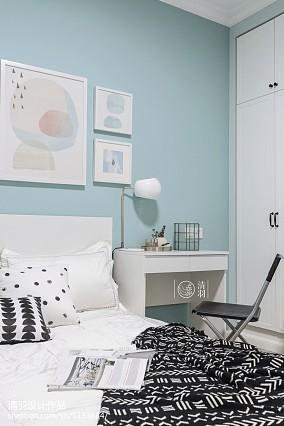 精美129平北欧三居卧室装修图片三居北欧极简家装装修案例效果图