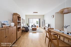 精美78平米二居客厅日式装修实景图