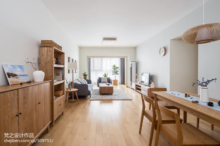精美78平米二居客厅日式装修实景图客厅