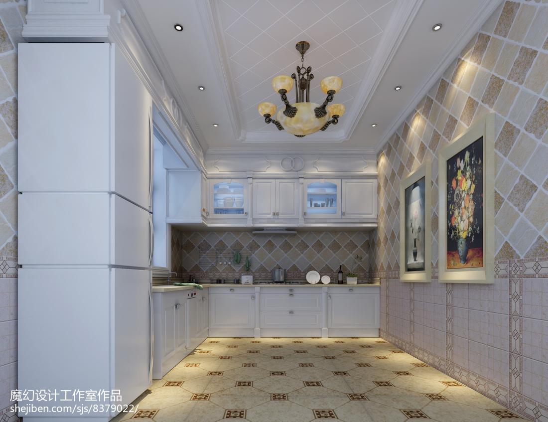 精美美式别墅厨房装修设计效果图片餐厅美式经典厨房设计图片赏析
