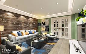 面积127平复式客厅现代效果图片欣赏