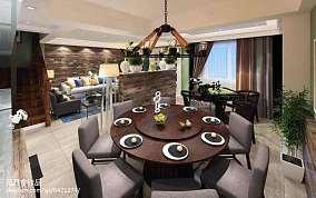 2018面积125平复式餐厅现代欣赏图