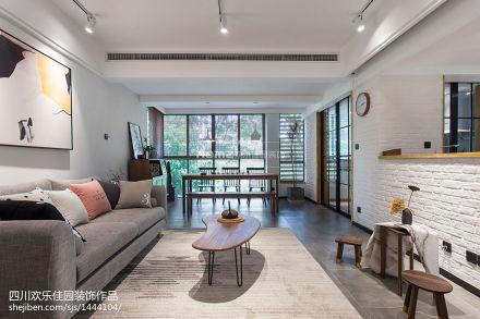 2018104平米3室客厅混搭实景图片大全三居潮流混搭家装装修案例效果图
