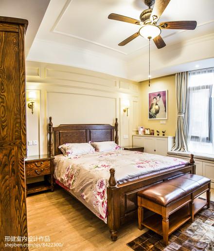 精美面积112平别墅卧室混搭实景图片大全卧室