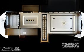 现代风格客厅卫生间隔断效果图