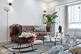 2018精选面积89平小户型客厅北欧装修设计效果图片