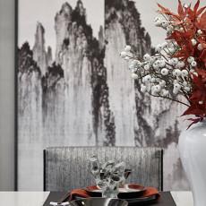 悠雅278平中式样板间餐厅实景图片