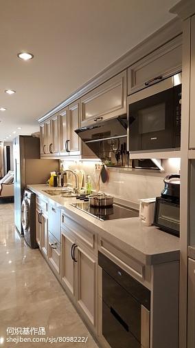 热门面积144平复式厨房简欧装修效果图片大全