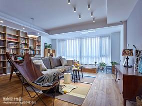 2018精选95平米三居客厅北欧设计效果图三居北欧极简家装装修案例效果图