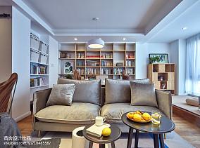 平米三居客厅北欧装饰图片三居北欧极简家装装修案例效果图