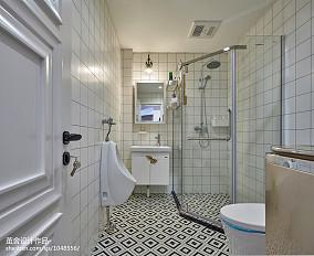 精选北欧三居卫生间装饰图片欣赏三居北欧极简家装装修案例效果图