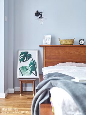 精美面积102平北欧三居卧室实景图三居北欧极简家装装修案例效果图