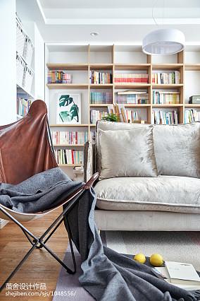 精美面积106平北欧三居客厅实景图三居北欧极简家装装修案例效果图