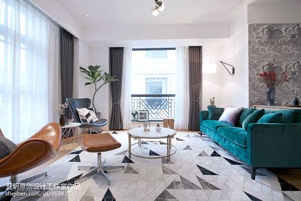 温馨240平北欧复式客厅装修美图复式北欧极简家装装修案例效果图