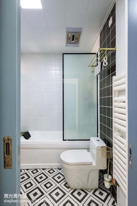 简约北欧三居卫浴设计图片卫生间