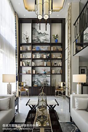 精美135平米中式别墅客厅装修效果图片欣赏
