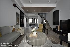 精美60平简约复式客厅装修案例