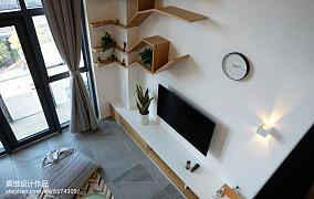 热门小户型客厅北欧装修实景图