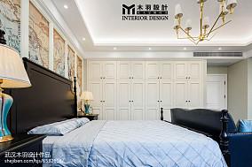 热门面积125平别墅卧室新古典装修图片大全别墅豪宅美式经典家装装修案例效果图