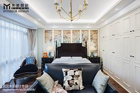 111平米新古典别墅卧室装饰图片欣赏别墅豪宅美式经典家装装修案例效果图