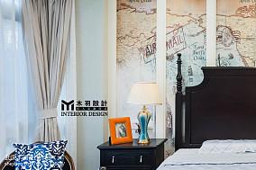 2018面积120平别墅卧室新古典装饰图家装装修案例效果图