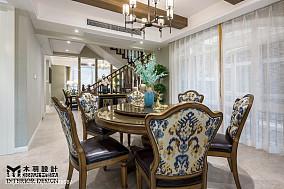 精选125平米新古典别墅餐厅欣赏图别墅豪宅美式经典家装装修案例效果图