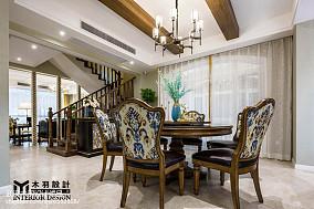 精选新古典别墅餐厅装修效果图片欣赏别墅豪宅美式经典家装装修案例效果图
