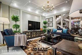 2018大小136平别墅客厅新古典装修效果图片别墅豪宅美式经典家装装修案例效果图