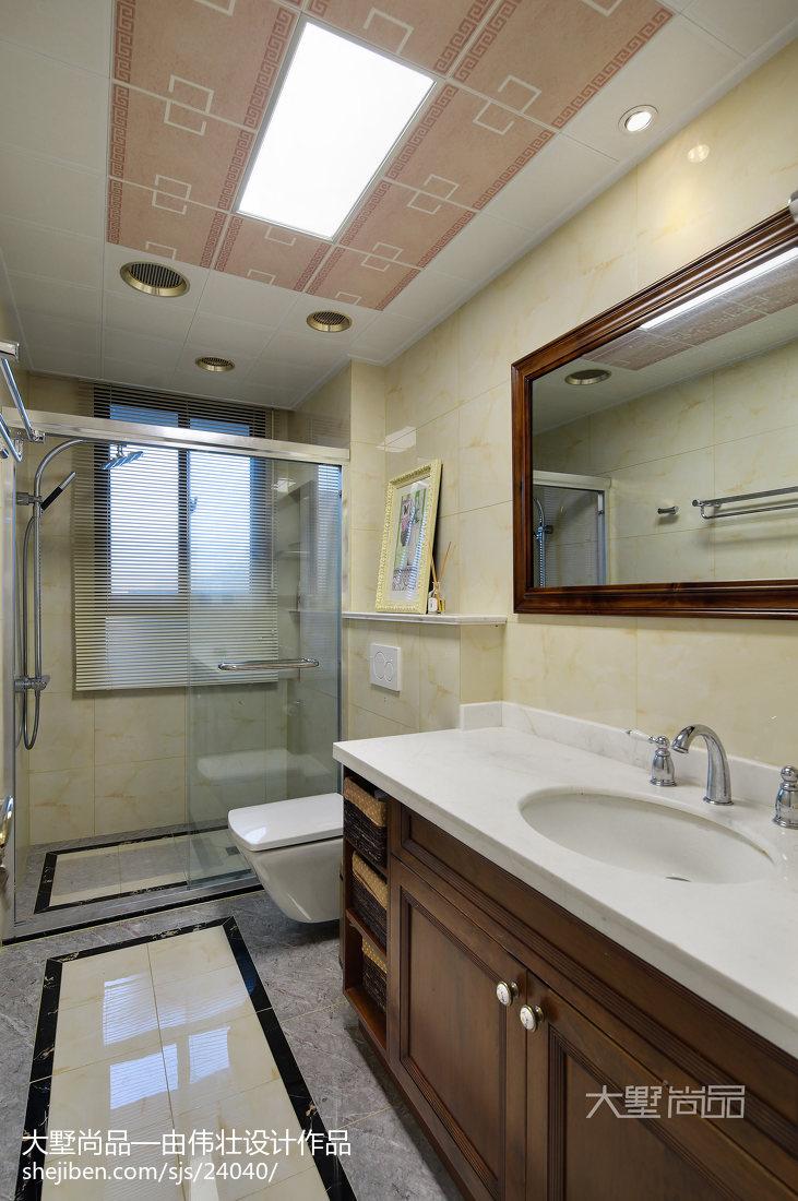 精选92平米三居卫生间欧式设计效果图卫生间欧式豪华卫生间设计图片赏析