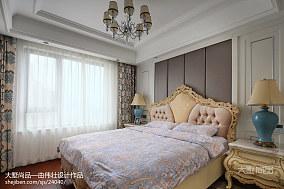 2018精选99平方三居卧室欧式装饰图片三居欧式豪华家装装修案例效果图