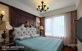 精美97平米三居卧室欧式装修欣赏图三居欧式豪华家装装修案例效果图
