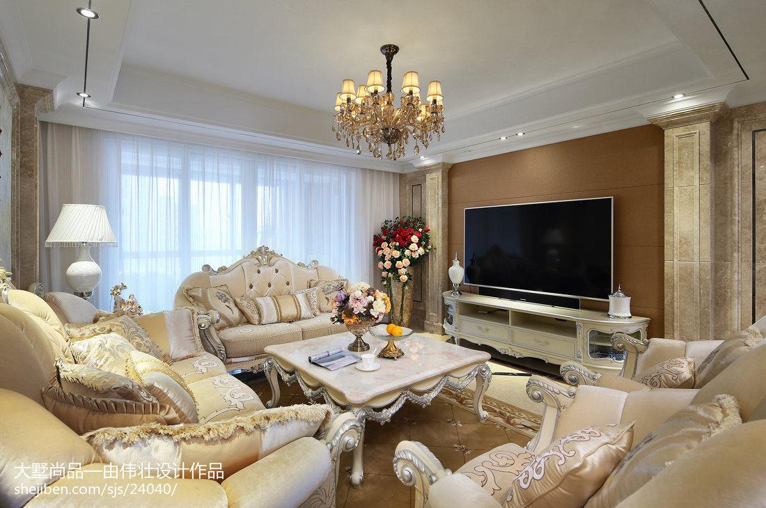 精美107平方三居客厅欧式装修效果图片欣赏客厅欧式豪华客厅设计图片赏析