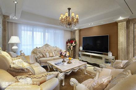 精美107平方三居客厅欧式装修效果图片欣赏三居欧式豪华家装装修案例效果图