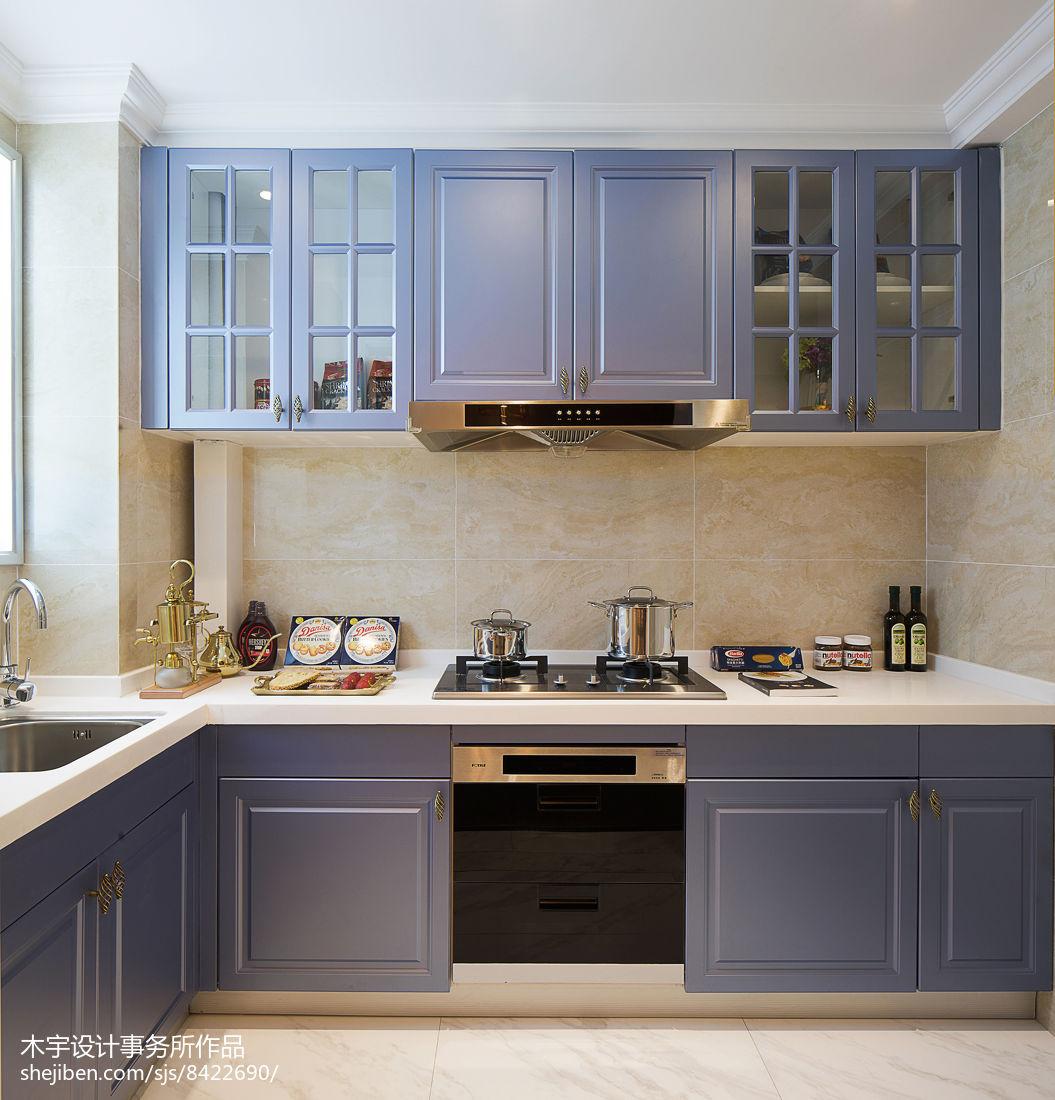 美式样板房厨房设计图