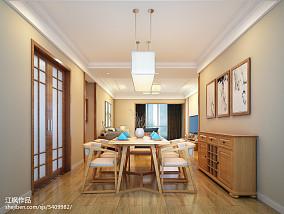 热门面积136平日式四居餐厅设计效果图