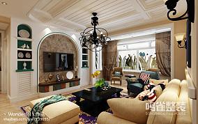 简欧一居室客厅软装配饰效果图