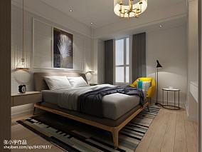 精美95平米三居卧室现代装饰图
