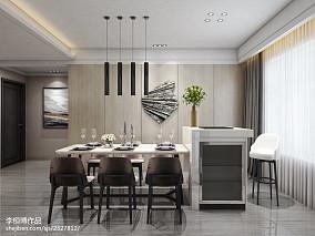 2018精选100平米三居餐厅现代装修实景图片大全