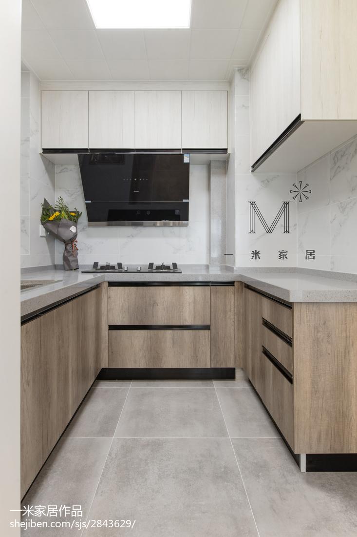 精选90平米三居厨房现代装修欣赏图片餐厅橱柜现代简约厨房设计图片赏析
