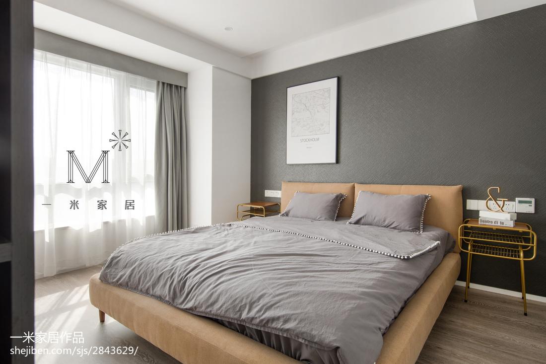 精美105平米三居卧室现代效果图卧室现代简约卧室设计图片赏析