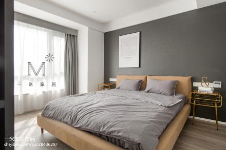 精美105平米三居卧室现代效果图81-100m²三居现代简约家装装修案例效果图