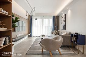 2018精选大小98平现代三居客厅装修实景图片